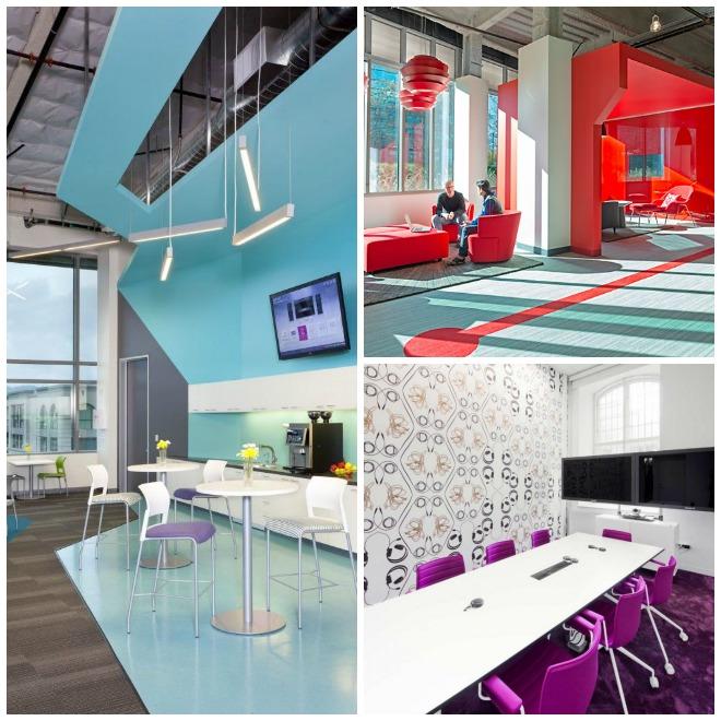 Drie voorbeelden van kantoren met een kleurrijke inrichting