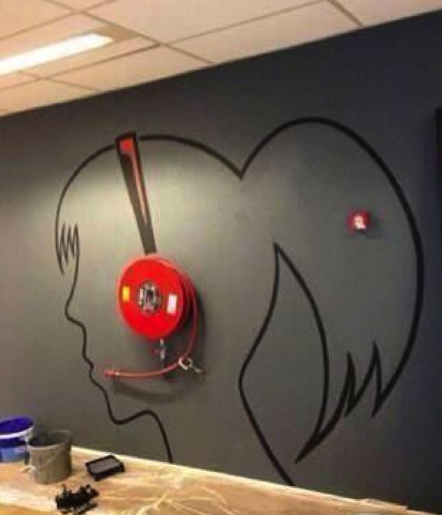 Brandblusser als headset