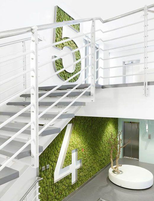 groene verdieping bewegwijzering