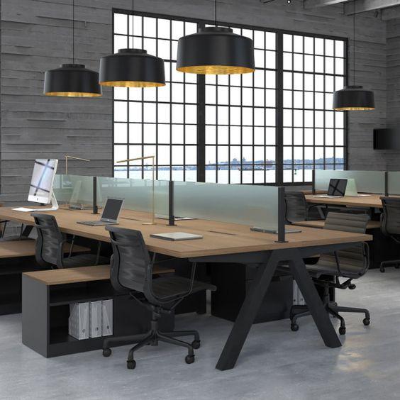 donker inrichting op kantoor