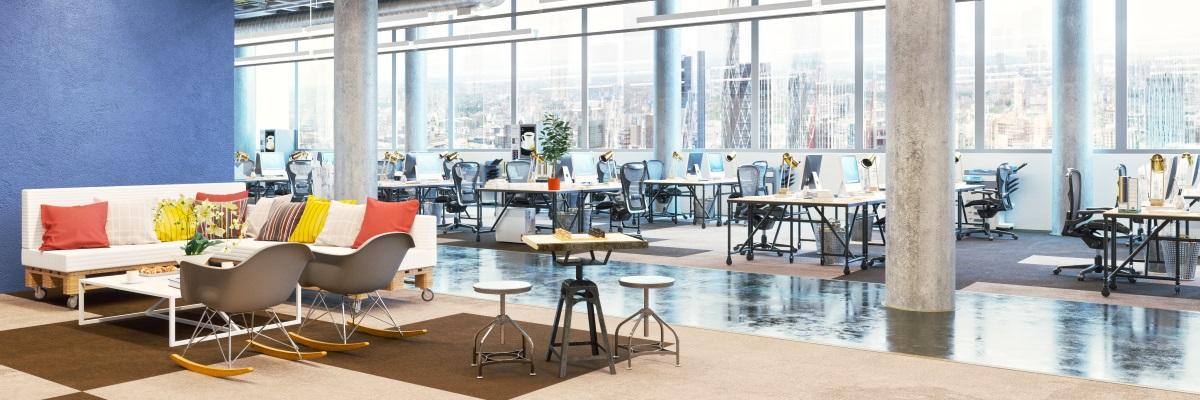 De kantoorinrichting verbetert de productiviteit